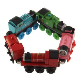 Wooden Henry Thomas Friends Train Engine Child Toy with 2/3/4 wheels