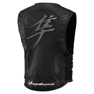 Icon Mens Regulator Hayabusa Leather Vest Black 2X/3XL