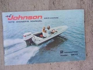 1973 Johnson Sea Horse Owner Manual 2 HP Horsepower Model 2R73 Boat