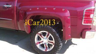2007 2011 CHEVY SILVERADO FENDER FLARES RIVET BOLT STYLE 4DR CREW CAB