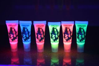 UV Glow Fluo Face & Body Paint   10ml   6 colours AIRMAIL FREE