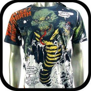 Mirth T Shirt Tattoo bmx Graffiti Rock N101 Sz L Skate Board Indie Vtg