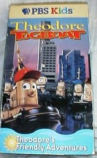 PBS Kids Theodore Tugboat FRIENDLY ADVENTURES Vhs o0