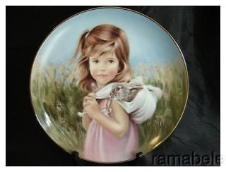 MY BUNNY A Country Summer by Nancy A Noel Hamilton Fine China 24k Gold