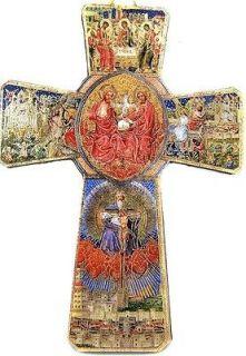 Holy Trinity Angel Crucifixion Wood Wall Cross Crucifix Spirit Dove