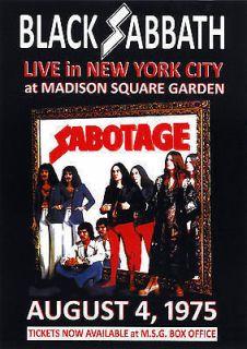 Black Sabbath vintage repro concert poster US 1975