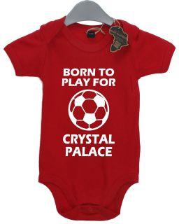 CRYSTAL PALACE FOOTBALL BABY GROW SUIT TSHIRT VEST BOY GIRL BABIES