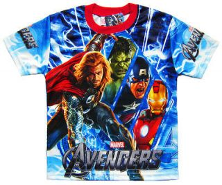 Movie Marvel Thor Iron Man Boys Kids T Shirt Top Clothes Age 3 4