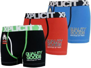 Mens Xplicit Boxer Shorts Boxers Funny Rude Quality Goods