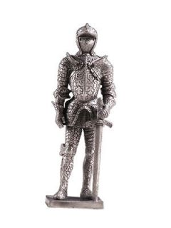 MEDIEVAL KNIGHTS PEWTER ROYAL SENTINEL SUIT OF ARMOR PEWTER STATUE