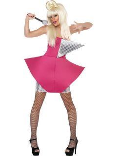 Adult Womens Lady Gaga Dance Diva American Smiffys Fancy Dress Costume