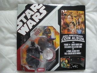 Star Wars 30 Years Coin Album & Darth Vader figure