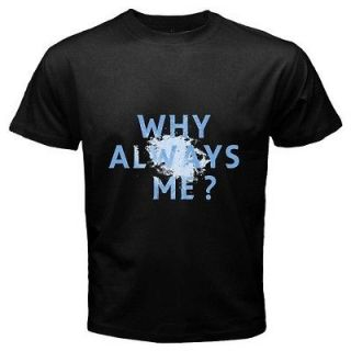 WHY ALWAYS ME ITALIAN SUPER MARIO BALOTELLI Black 2 Sides T shirt