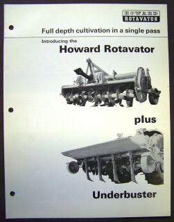 Howard Rotavator Plus Underbuster Dealer Sales Information Brochure