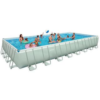 Intex 32 foot x 16 foot x 52 foot Rectangular Ultra Frame Pool with