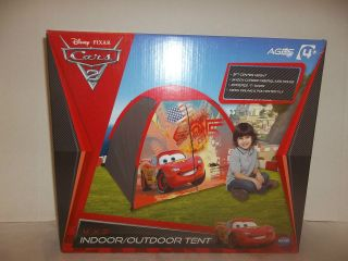 DISNEY CARS 2 INDOOR/OUTDOOR PLAY TENT NEW CAMPING DOME 4X3 LIGHTNING