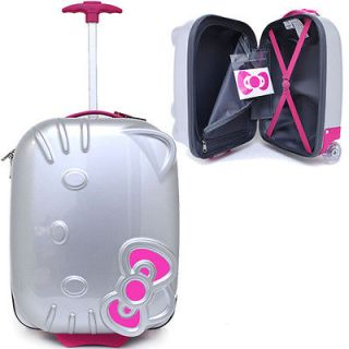 Hello Kitty Rolling Luggage ASB Trolley Bag Hard Suit Case Black