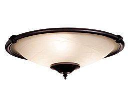 LK53ORB Oil Rubbed Bronze 3 Light Low Profile Ceiling Fan Light Kit