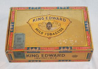 VINTAGE CIGAR BOX KING EDWARD THE SEVENTH 1955 TAX REVENUE STAMP THE