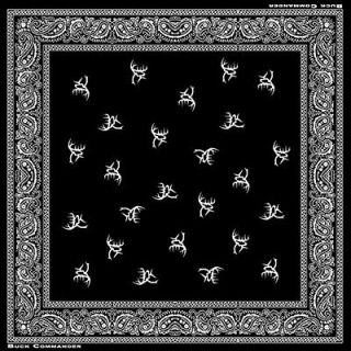 Buck Commander ~ Black and White Bandana Antler Logod ~ Deer Hunting