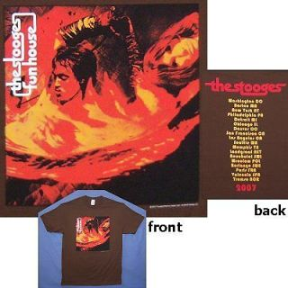 IGGY POP STOOGES FUNHOUSE 2007 TOUR BROWN T SHIRT LARGE NEW