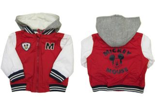 Baby Boys Disney Mickey Mouse Nylon Baseball Jacket 3 6 9 months