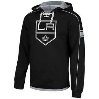 Los Angeles Kings Faceoff NHL Team Jersey Pullover Hoodie   Black