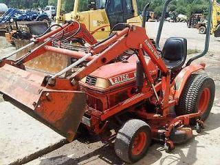 Kubota B1750 Tractor Loader with Mid Mower 20 Horsepower Diesel