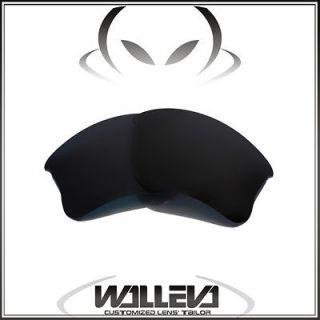 New Walleva Polarized Black Lenses For Oakley Flak Jacket XLJ