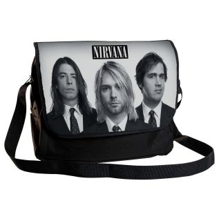 NIRVANA,Kurt Cobain 12 MESSENGER BAG,cross body,school,student