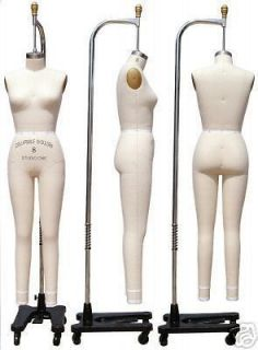 Professional dress form, Mannequin,Full Size 8, w/legs