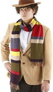 LICENSED FOURTH 4TH DOCTOR 6 STRIPED SCARF COSTUME REPLICA TOM BAKER