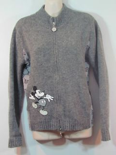 Disney Collection womens jrs. 4 Mickey Mouse wool double zipper