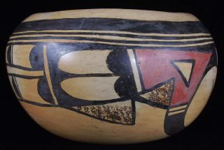 Early Antique Polychrome HOPI Native American Old Indian Pottery