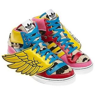 Adidas Jeremy Scott JS Wings Shoes Oddity Cowboy Lollipop Faux Fur 2.0