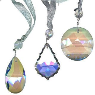 Kirks Folly Crystal Ornaments   THREE WITH AUCTION