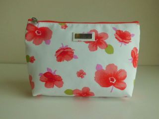 Jim Thompson   Luxury Makeup & Cosmetic Bag 100% Thai Silk   Floral