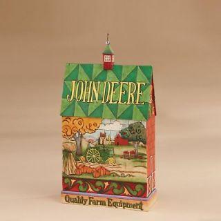 Jim Shore & John Deere Barn Figurine w/John Deere Farm Tractor