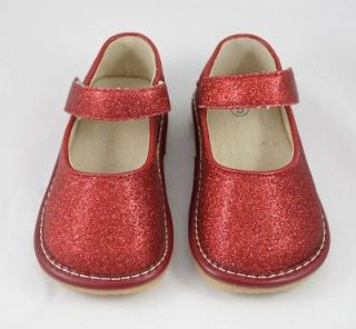Squeaky Party Shoes Red Glitter Bling Mary Jane * Halloween Christmas