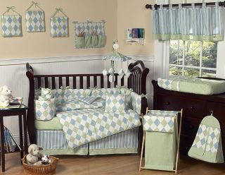AND GREEN BABY BOY CRIB BEDDING SET COLLECTION BY SWEET JOJO DESIGNS