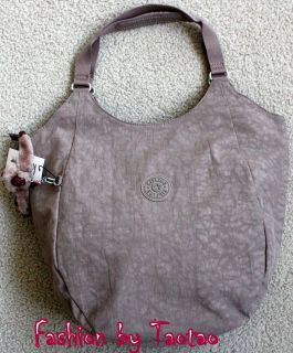 New with Tag Kipling MOLDE Medium Shoulder Tote Bag Peppered Powder