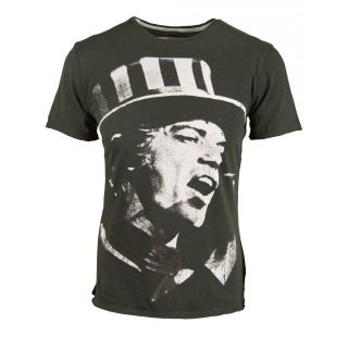 Amplified Mens Mick Jagger Rolling Stones Top Hat T Shirt Ikons