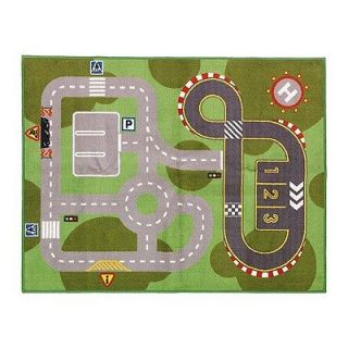 Large kids children boys girl roads square Nursery Area Rug bedroom
