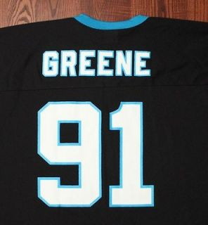 Carolina Panthers NFL Football #91 Kevin Greene Vintage Logos Black XL
