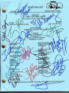 LISA RINNA FARAH FATH ALISON SWEENEY SIGNED X16 DAYS OF OUR LIVES