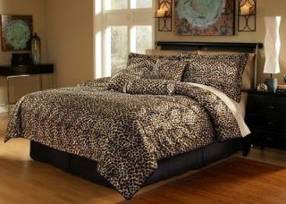 11pcs queen leopard animal kingdom bed in a bag  and 30