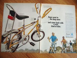 1968  bicycle ad 20 16 screamer dragster time left