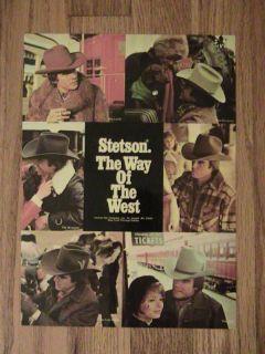 stetson hat western advertisement cowboy vintage  5