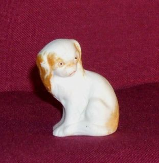 Vintage Bisque porcelain Japanese Chin dog figurine made in Germany