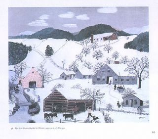 GRANDMA MOSES print THE OLD OAKEN BUCKET IN WINTER
